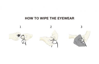 how to wipe the eyewear