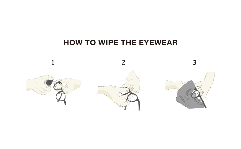 how to wipe the eyewear
